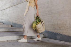 falda larga de cashmere